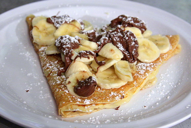 Bananen- Nutella Crepes
