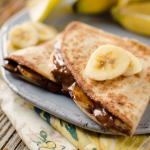 Chocolate Banana Quesadillas